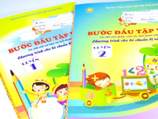 Luyện chữ với vở tập viết thích hợp với các bé đang học mẫu giáo