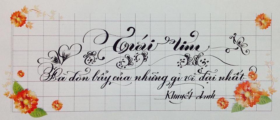 chữ mẫu đẹp