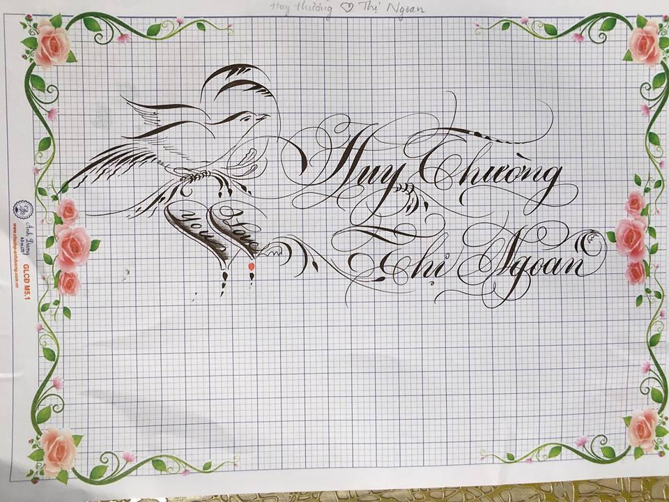 chu hoa sang tao 11 - Bộ sưu tập chữ viết tay, chữ viết hoa sáng tạo, chữ nghệ thuật đẹp