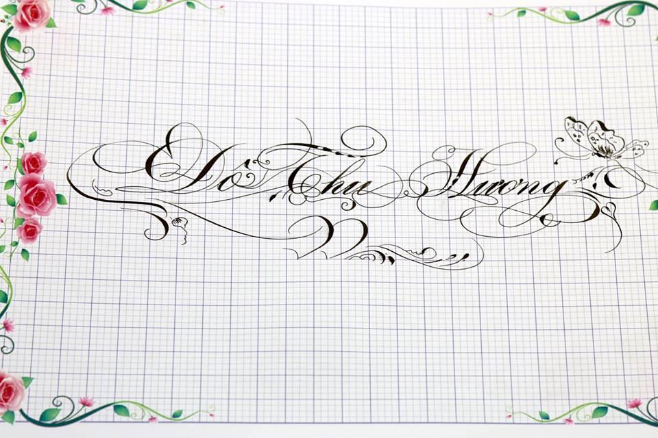 chu hoa sang tao 12 - Bộ sưu tập chữ viết tay, chữ viết hoa sáng tạo, chữ nghệ thuật đẹp