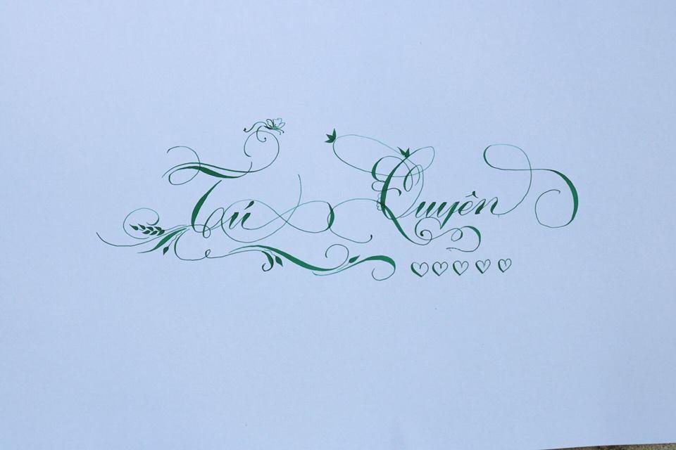 chu hoa sang tao 14 - Bộ sưu tập chữ viết tay, chữ viết hoa sáng tạo, chữ nghệ thuật đẹp
