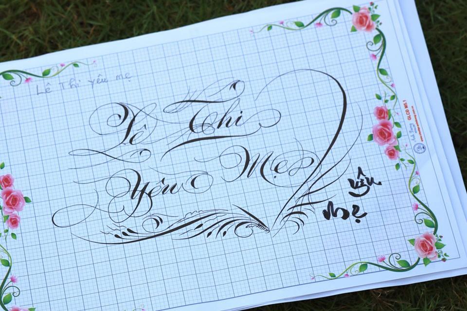 chu hoa sang tao 16 - Bộ sưu tập chữ viết tay, chữ viết hoa sáng tạo, chữ nghệ thuật đẹp