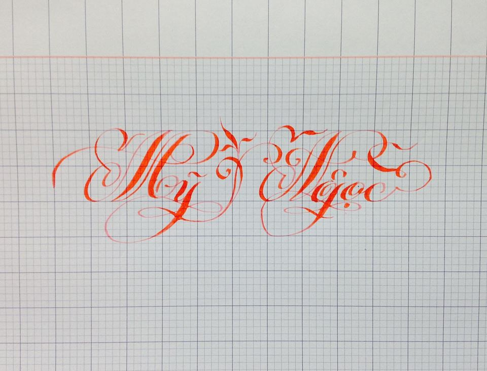 chu hoa sang tao 23 - Bộ sưu tập chữ viết tay, chữ viết hoa sáng tạo, chữ nghệ thuật đẹp