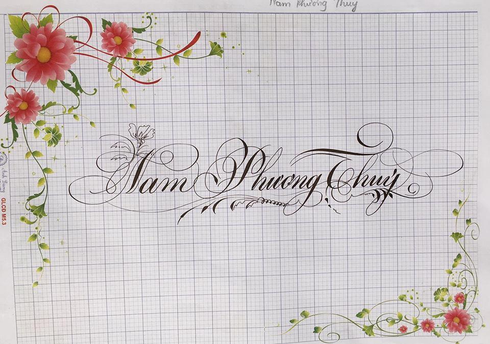 chu hoa sang tao 27 - Bộ sưu tập chữ viết tay, chữ viết hoa sáng tạo, chữ nghệ thuật đẹp
