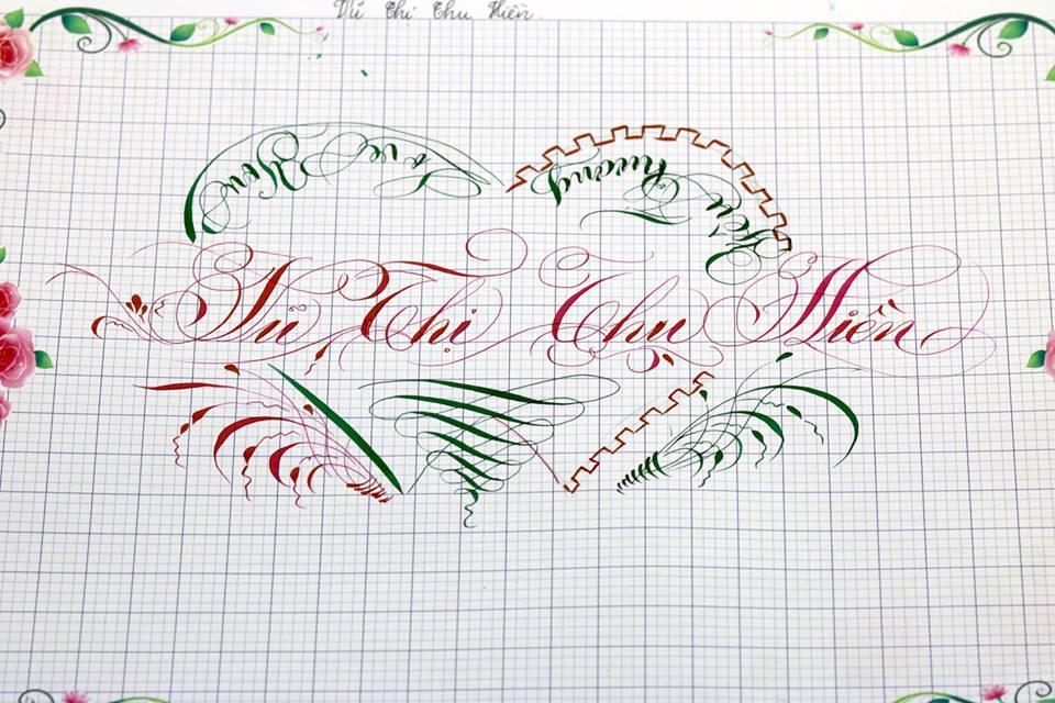 chu hoa sang tao 3 - Bộ sưu tập chữ viết tay, chữ viết hoa sáng tạo, chữ nghệ thuật đẹp