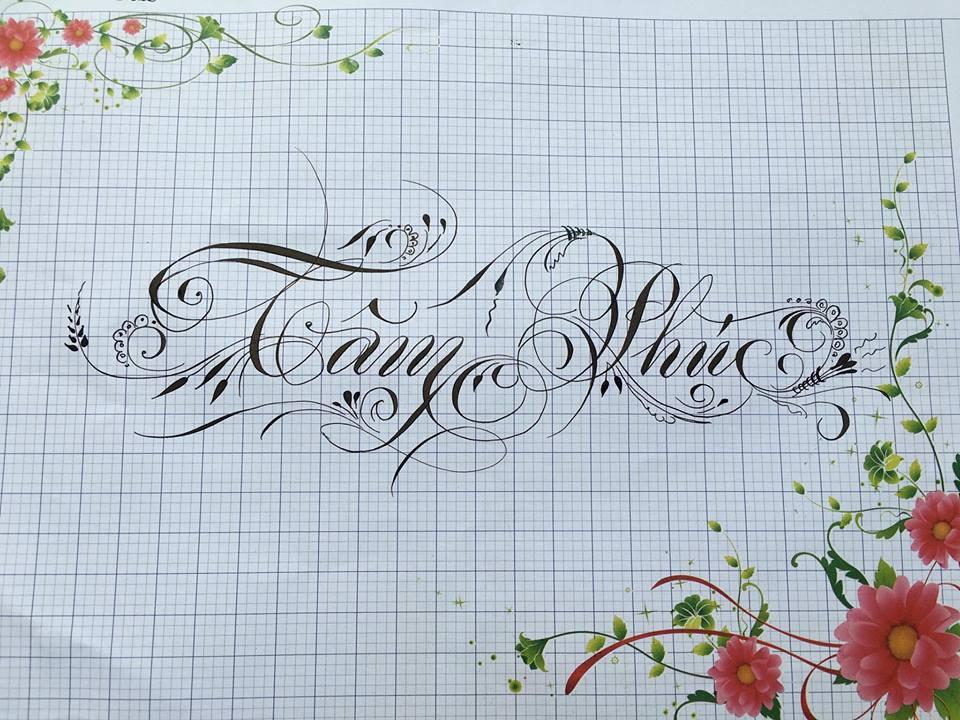 chu hoa sang tao 4 - Bộ sưu tập chữ viết tay, chữ viết hoa sáng tạo, chữ nghệ thuật đẹp