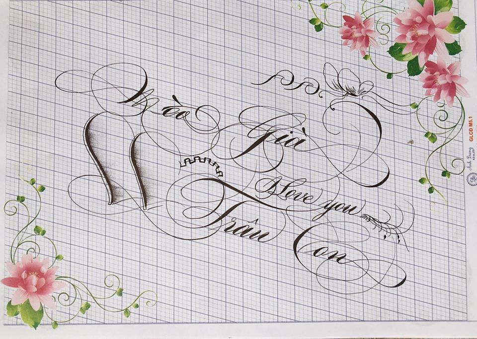 chu hoa sang tao 6 - Bộ sưu tập chữ viết tay, chữ viết hoa sáng tạo, chữ nghệ thuật đẹp