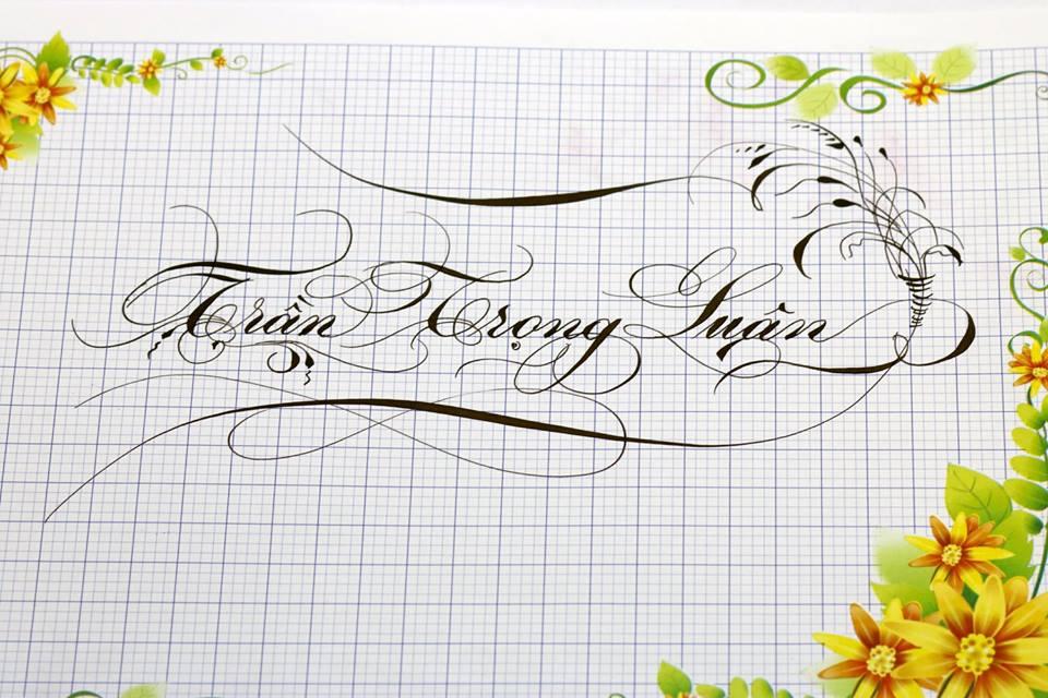 chu hoa sang tao 7 - Bộ sưu tập chữ viết tay, chữ viết hoa sáng tạo, chữ nghệ thuật đẹp