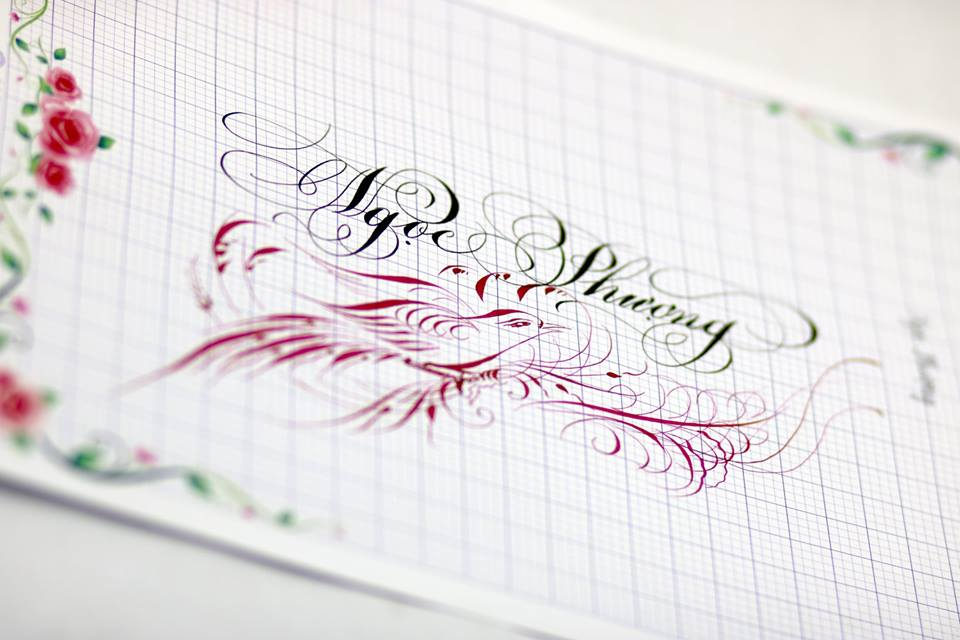 chu hoa sang tao 8 - Bộ sưu tập chữ viết tay, chữ viết hoa sáng tạo, chữ nghệ thuật đẹp