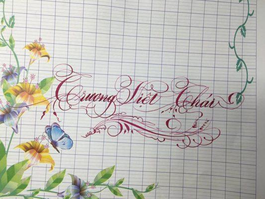 chu nghe thuat 10 e1538120216469 533x400 - Bộ sưu tập chữ viết tay, chữ viết hoa sáng tạo, chữ nghệ thuật đẹp