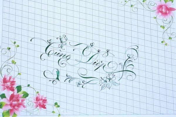 chu nghe thuat 12 600x400 - Bộ sưu tập chữ viết tay, chữ viết hoa sáng tạo, chữ nghệ thuật đẹp