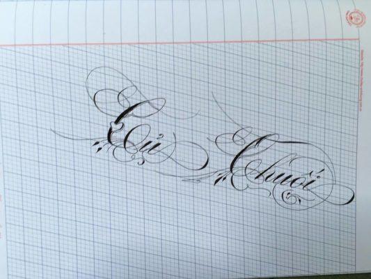 chu nghe thuat 14 533x400 - Bộ sưu tập chữ viết tay, chữ viết hoa sáng tạo, chữ nghệ thuật đẹp