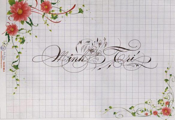 chu nghe thuat 17 584x400 - Bộ sưu tập chữ viết tay, chữ viết hoa sáng tạo, chữ nghệ thuật đẹp