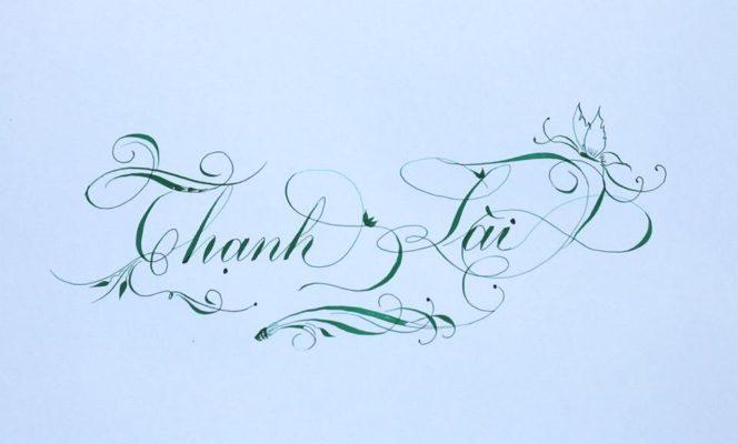 chu nghe thuat 19 664x400 - Bộ sưu tập chữ viết tay, chữ viết hoa sáng tạo, chữ nghệ thuật đẹp