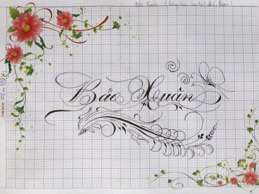 chu nghe thuat 20 533x400 - Bộ sưu tập chữ viết tay, chữ viết hoa sáng tạo, chữ nghệ thuật đẹp