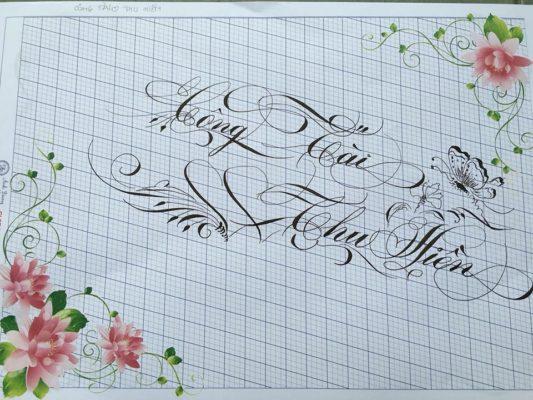 chu nghe thuat 24 533x400 - Bộ sưu tập chữ viết tay, chữ viết hoa sáng tạo, chữ nghệ thuật đẹp