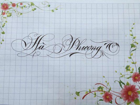 chu nghe thuat 26 533x400 - Bộ sưu tập chữ viết tay, chữ viết hoa sáng tạo, chữ nghệ thuật đẹp