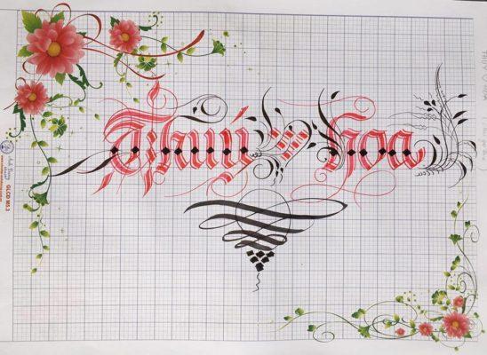 chu nghe thuat 28 548x400 - Bộ sưu tập chữ viết tay, chữ viết hoa sáng tạo, chữ nghệ thuật đẹp