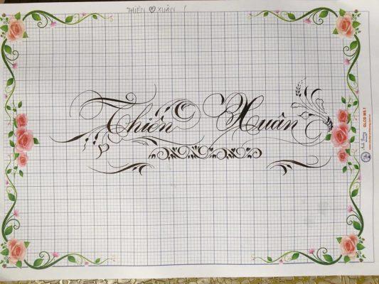 chu nghe thuat 29 533x400 - Bộ sưu tập chữ viết tay, chữ viết hoa sáng tạo, chữ nghệ thuật đẹp