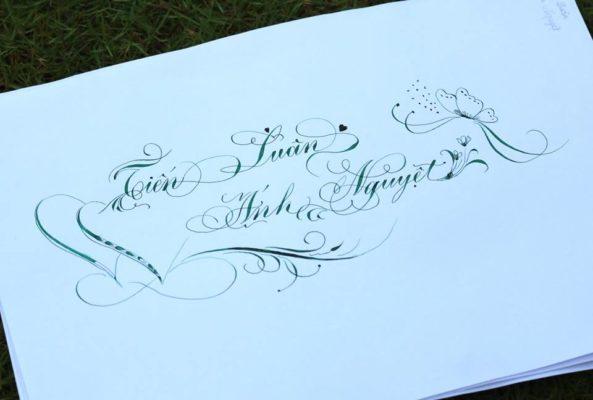 chu nghe thuat 3 593x400 - Bộ sưu tập chữ viết tay, chữ viết hoa sáng tạo, chữ nghệ thuật đẹp