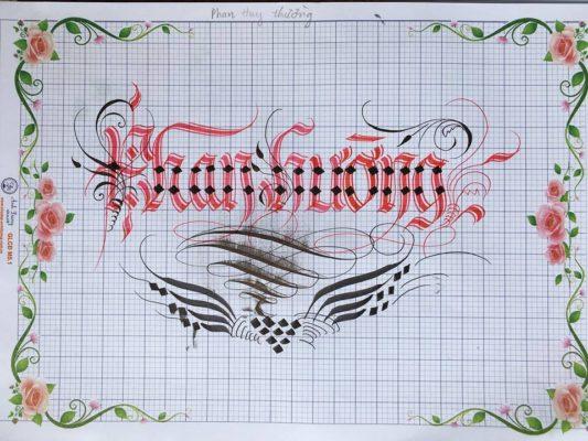 chu nghe thuat 31 533x400 - Bộ sưu tập chữ viết tay, chữ viết hoa sáng tạo, chữ nghệ thuật đẹp