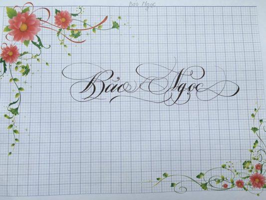 chu nghe thuat 35 533x400 - Bộ sưu tập chữ viết tay, chữ viết hoa sáng tạo, chữ nghệ thuật đẹp