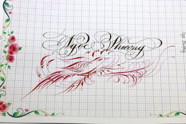 chu nghe thuat 8 600x400 - Bộ sưu tập chữ viết tay, chữ viết hoa sáng tạo, chữ nghệ thuật đẹp