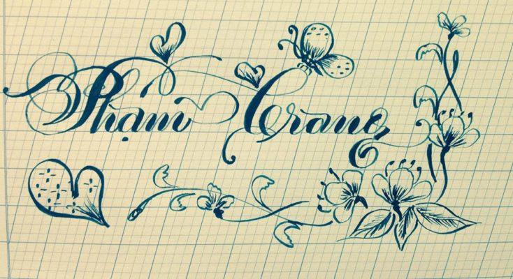 chu viet dep 25 734x400 - Bộ sưu tập chữ viết tay, chữ viết hoa sáng tạo, chữ nghệ thuật đẹp