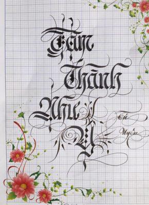 chu viet dep 34 290x400 - Bộ sưu tập chữ viết tay, chữ viết hoa sáng tạo, chữ nghệ thuật đẹp