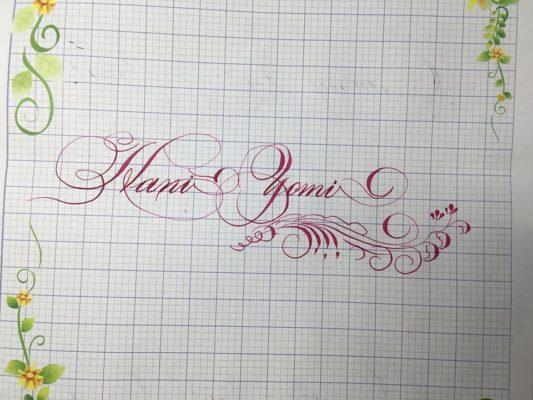 chu viet dep 38 533x400 - Bộ sưu tập chữ viết tay, chữ viết hoa sáng tạo, chữ nghệ thuật đẹp