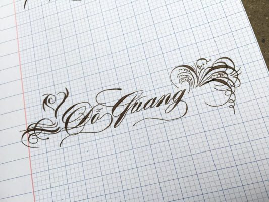 chu viet dep 39 533x400 - Bộ sưu tập chữ viết tay, chữ viết hoa sáng tạo, chữ nghệ thuật đẹp
