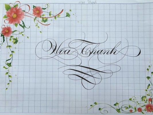chu viet dep 47 533x400 - Bộ sưu tập chữ viết tay, chữ viết hoa sáng tạo, chữ nghệ thuật đẹp