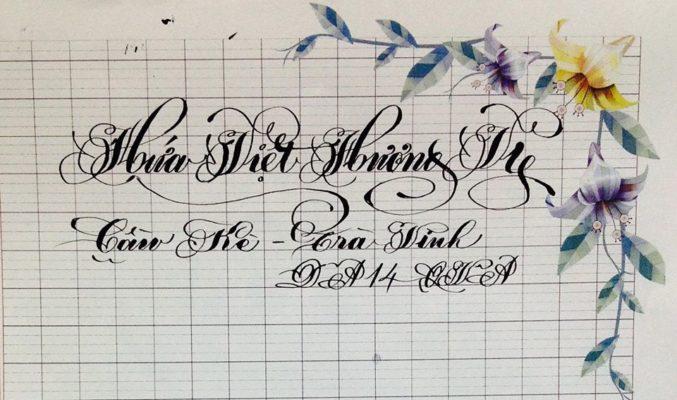 chu viet dep 60 677x400 - Bộ sưu tập chữ viết tay, chữ viết hoa sáng tạo, chữ nghệ thuật đẹp