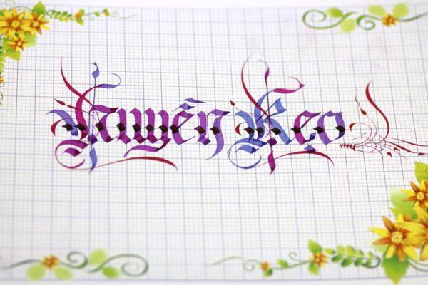 chu viet dep 63 600x400 - Bộ sưu tập chữ viết tay, chữ viết hoa sáng tạo, chữ nghệ thuật đẹp