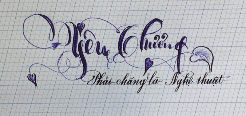 chu viet dep 75 800x379 - Bộ sưu tập chữ viết tay, chữ viết hoa sáng tạo, chữ nghệ thuật đẹp