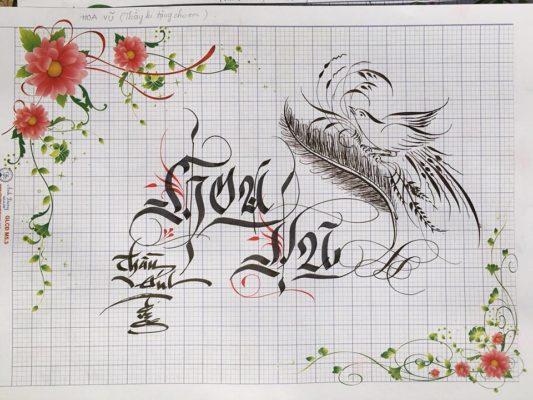 mau chu viet tay dep 1 533x400 - Bộ sưu tập chữ viết tay, chữ viết hoa sáng tạo, chữ nghệ thuật đẹp