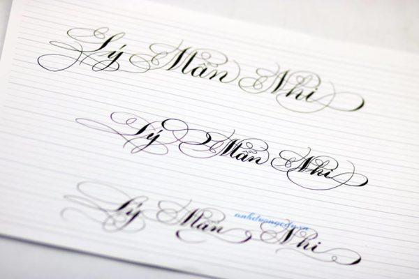 mau chu viet tay dep 10 600x400 - Bộ sưu tập chữ viết tay, chữ viết hoa sáng tạo, chữ nghệ thuật đẹp