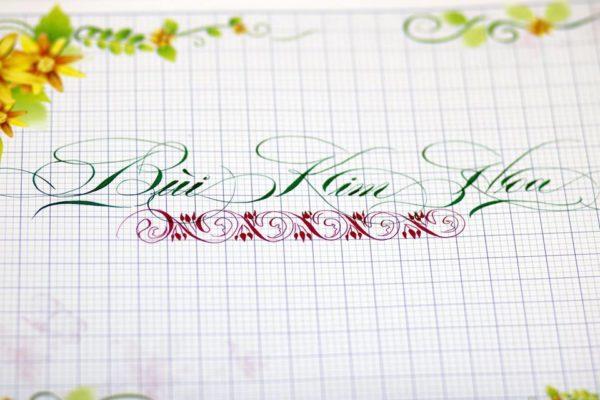 mau chu viet tay dep 11 600x400 - Bộ sưu tập chữ viết tay, chữ viết hoa sáng tạo, chữ nghệ thuật đẹp