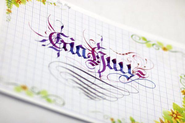 mau chu viet tay dep 13 600x400 - Bộ sưu tập chữ viết tay, chữ viết hoa sáng tạo, chữ nghệ thuật đẹp