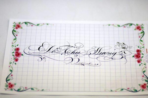 mau chu viet tay dep 14 600x400 - Bộ sưu tập chữ viết tay, chữ viết hoa sáng tạo, chữ nghệ thuật đẹp