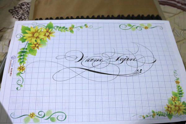 mau chu viet tay dep 17 600x400 - Bộ sưu tập chữ viết tay, chữ viết hoa sáng tạo, chữ nghệ thuật đẹp