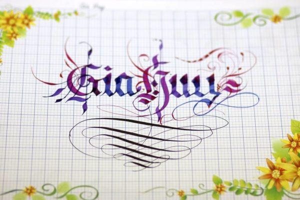mau chu viet tay dep 23 600x400 - Bộ sưu tập chữ viết tay, chữ viết hoa sáng tạo, chữ nghệ thuật đẹp
