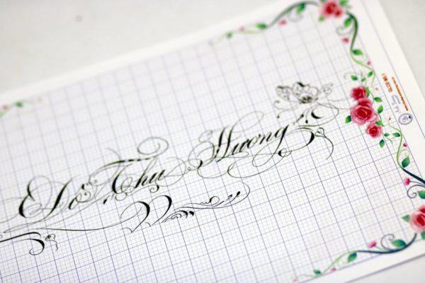 mau chu viet tay dep 24 600x400 - Bộ sưu tập chữ viết tay, chữ viết hoa sáng tạo, chữ nghệ thuật đẹp