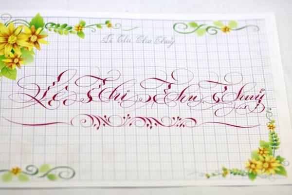 mau chu viet tay dep 25 600x400 - Bộ sưu tập chữ viết tay, chữ viết hoa sáng tạo, chữ nghệ thuật đẹp
