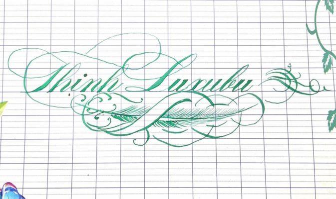 mau chu viet tay dep 3 673x400 - Bộ sưu tập chữ viết tay, chữ viết hoa sáng tạo, chữ nghệ thuật đẹp