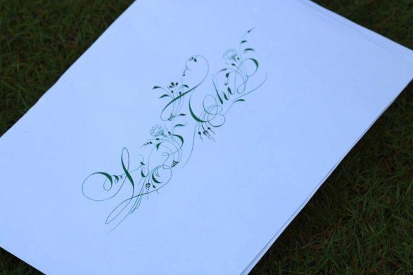 mau chu viet tay dep 32 600x400 - Bộ sưu tập chữ viết tay, chữ viết hoa sáng tạo, chữ nghệ thuật đẹp