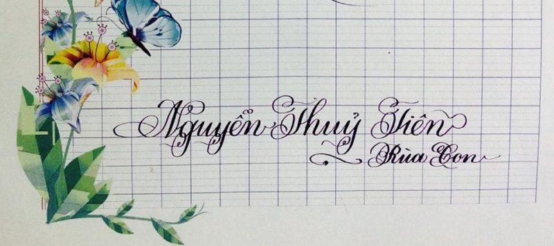 mau chu viet tay dep 37 800x356 - Bộ sưu tập chữ viết tay, chữ viết hoa sáng tạo, chữ nghệ thuật đẹp