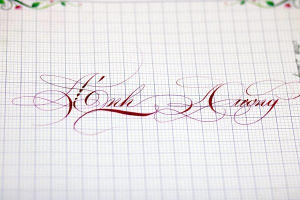 mau chu viet tay dep 42 600x400 - Bộ sưu tập chữ viết tay, chữ viết hoa sáng tạo, chữ nghệ thuật đẹp
