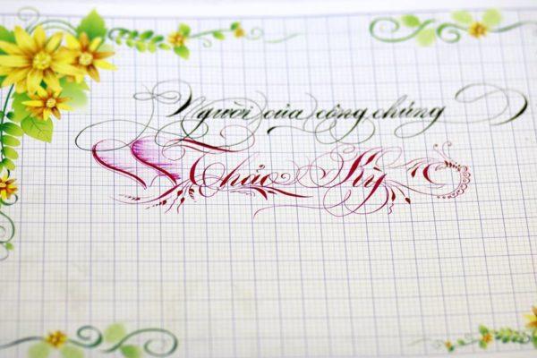 mau chu viet tay dep 51 600x400 - Bộ sưu tập chữ viết tay, chữ viết hoa sáng tạo, chữ nghệ thuật đẹp