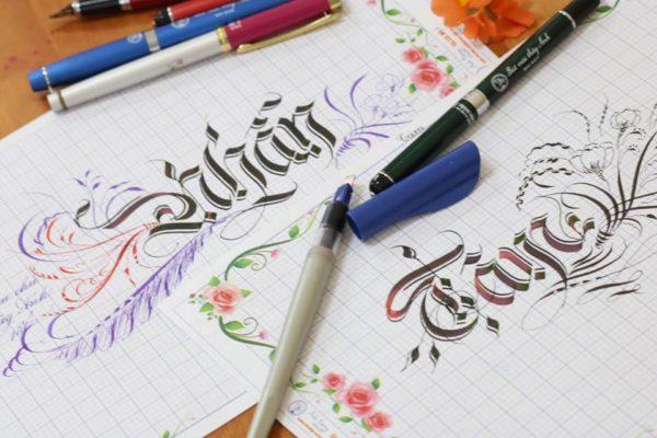 mau chu viet tay dep 6 600x400 - Bộ sưu tập chữ viết tay, chữ viết hoa sáng tạo, chữ nghệ thuật đẹp